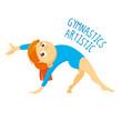 Kinds of sports. Athlete. Gymnastics artistic