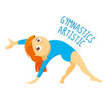 Kinds of sports. Athlete. Gymnastics artistic - 197012795