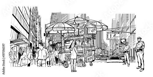 In de dag Art Studio New York cityscape
