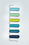 Vertical table, template. Infographics elements.