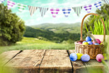 Fototapety Easter background of free space for your decoration.