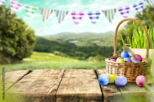 Easter background of free space for your decoration.