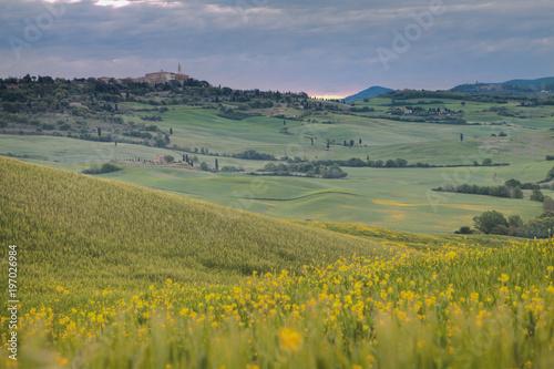 Val d'Orcia in primavera Toscana Italia