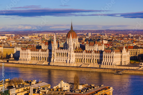 Foto op Canvas Boedapest Parliament in Budapest Hungary