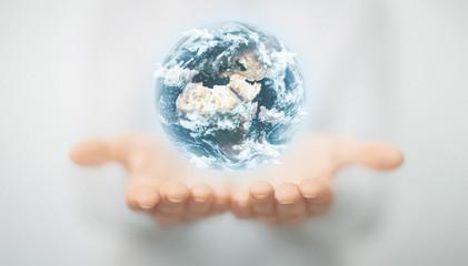 Mondo tra le mani, concetto di ecologia