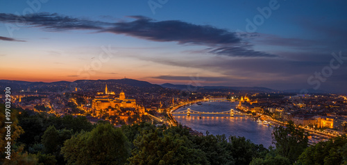 Foto op Aluminium Boedapest View of Budapest in Hungary at night