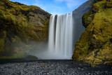 the Skogafoss waterfall in Iceland.