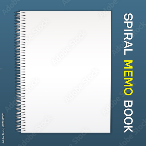 spiral notebook notepad an empty cover for inserting your images