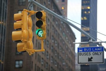 traffic sign light in new york