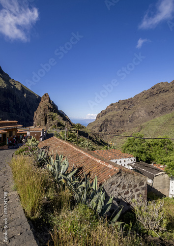Deurstickers Canarische Eilanden Masca, Tenerife Island, Canary Islands, Spain