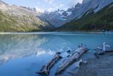 Laguna Esmeralda lake in Tierra del Fuego