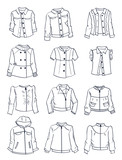 Contours of jackets for girls - 197050506