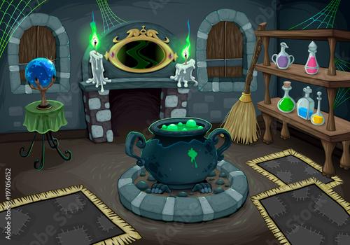 Foto op Canvas Kinderkamer The witch room