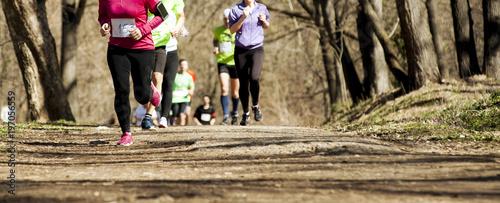 Fototapeta Marathon race at spring