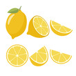 Lemons on a white background. Vector illustration - 197057725