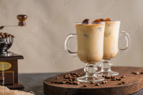 Poster Iced coffee in glass jars