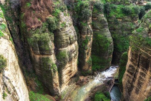 Foto op Aluminium Grijze traf. El tajo canyon in Ronda