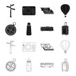 Vacation, travel, lighthouse, compass .Rest and travel set collection icons in black,outline style vector symbol stock illustration web.