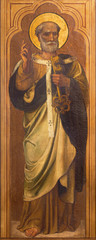 LONDON, GREAT BRITAIN - SEPTEMBER 17, 2017: The painting of St. Peter the Apostle in church St. Marys Cadogan, street.