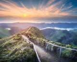 Fototapety Mountain landscape Ponta Delgada island, Azores