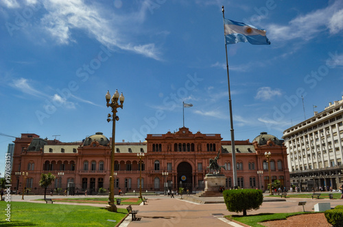 Fotobehang Buenos Aires casa rosada, the government house in Buenos Aires, Argentina