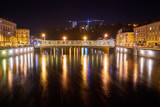 Epinal Moselle River and Bridge Night Shot with Long Expose
