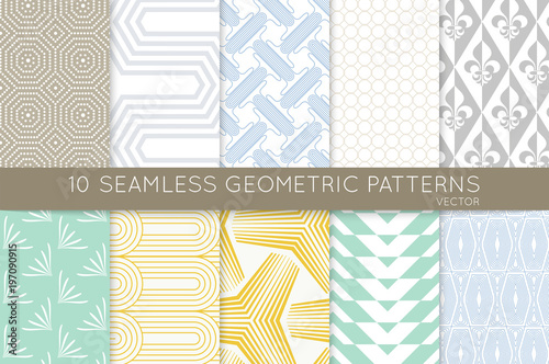 Collection of seamless patterns - 197090915