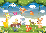 Vector Illustration Of Cartoon Animals © yusuf