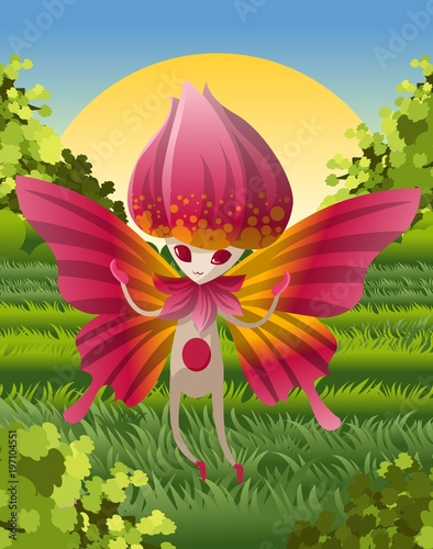 magical rose creature - 197104551