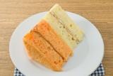 Dish of Vanilla and Orange Chiffon Cake