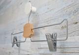 Metal Coat Hanger Hanging on A Clothes Rack