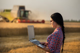 Farmer woman at harvest - 197107319