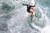 Pro surfer, Eveline Hooft, prepping at Honolua Bay. - 197121905