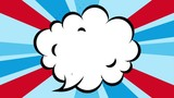 comic expression empty speech cloud beams background - 197122137