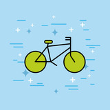 bicycle transport recreation ecology icon vector illustration