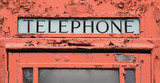 Old telephone booth fragment.