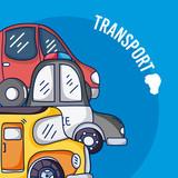 Set of cartoons vehicles
