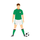 Ireland Football Uniform National Team Illustration