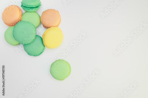Fotobehang Macarons Assorted sweet pastel color macaroons