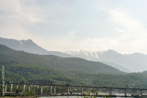 Bridge over river near Hue, Vietnam