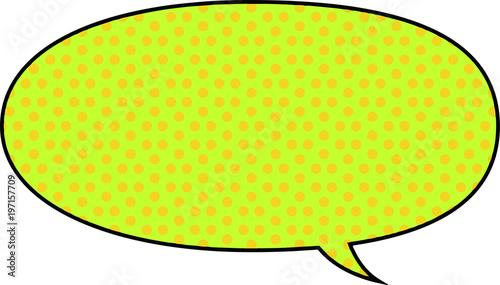 Cartoon's color dot speech balloon 17 - 197157709