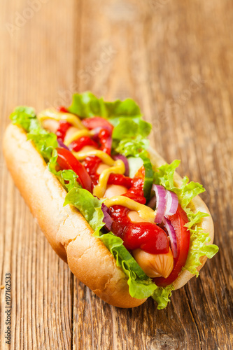 Delicious homemade hot dogs.