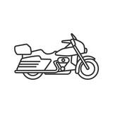 Motorbike linear icon - 197168334