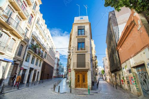 Valencia narrow street and building