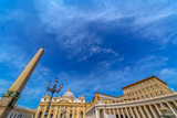 Fish eye view of buildings from St. Peter's Square, Vatican City - 197195559