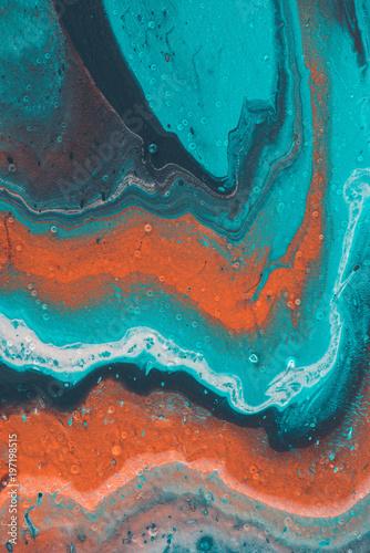 abstrakcyjne tekstury z niebieskim i pomarańczowym farby olejnej