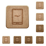 Mobile services wooden buttons - 197203330