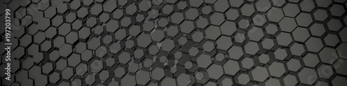grey hexagon background - 197203799