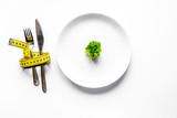 concept slimming diet fresh vegetables on white background top v - 197204910