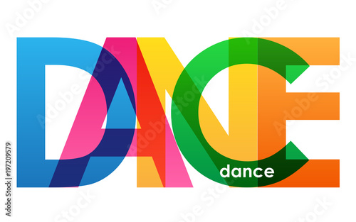 DANCE Colourful Letters Icon